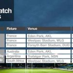 NZ All Blacks Rugby 2018 Fixture