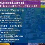 Scotland Rugby 2018 Fixtures